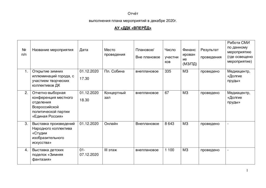 Отчёт по мероприятиям за декабрь 2020 года-0